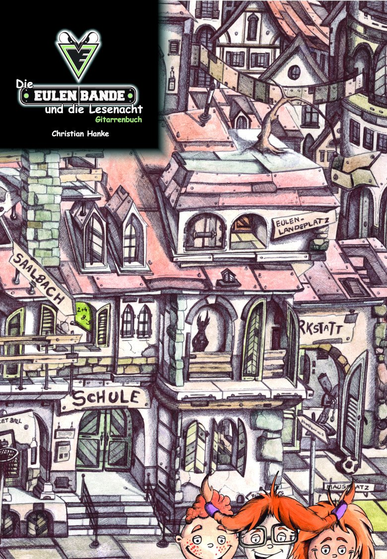 Die Eulenbande und die Lesenacht Gitarrenbuch Cover