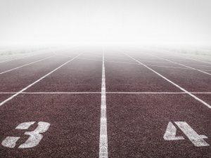 Startlinie einer Laufstrecke